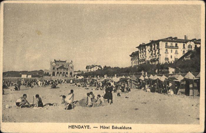 Hendaye Pyrenees Atlantiques Hotel Eskualduna x / Hendaye /Arrond. de Bayonne
