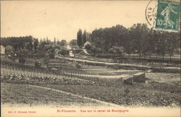 Saint-Florentin Yonne Saint-Florentin Canal Bourgogne x / Saint-Florentin /Arrond. d Auxerre