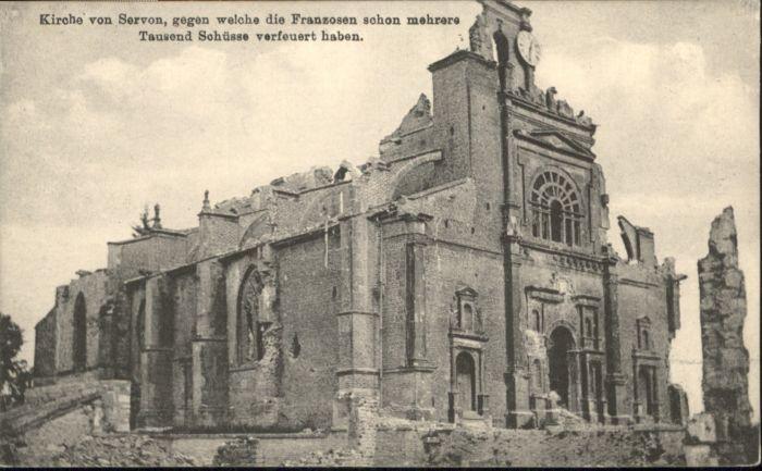 Servon Manche Kirche Zerstoerung * / Servon /Arrond. d Avranches