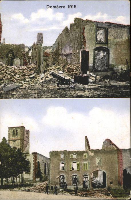 Domevre-en-Haye 1915 Ruinen Zerstoerung / Domevre-en-Haye /Arrond. de Toul