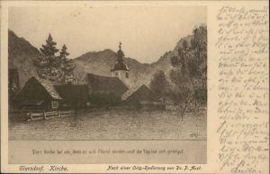 Giersdorf Opolnica Kirche nach einer Radierung von Dr. P. Aust x / Opolnica /Zabkowice Slaskie