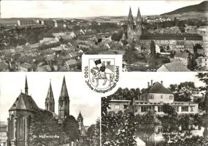 Heiligenstadt Eichsfeld Gesamtansicht St. Marienkirche Kneipp Bad Wappen Ritter Kat. Heiligenstadt