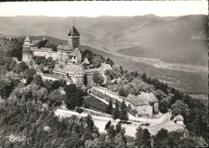 Haut-Koenigsbourg Hohkoenigsburg Haut-Koenigsbourg Vue generale aerienne du Chateau Fliegeraufnahme Burg * / Orschwiller /Arrond. de Selestat-Erstein