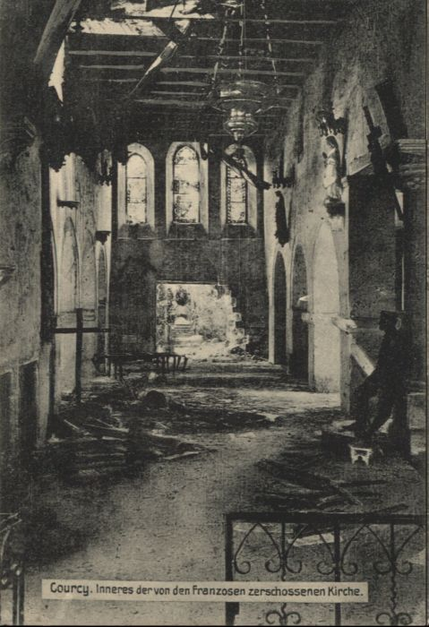 Courcy Marne Zerschossene Kirche  * / Courcy /Arrond. de Reims