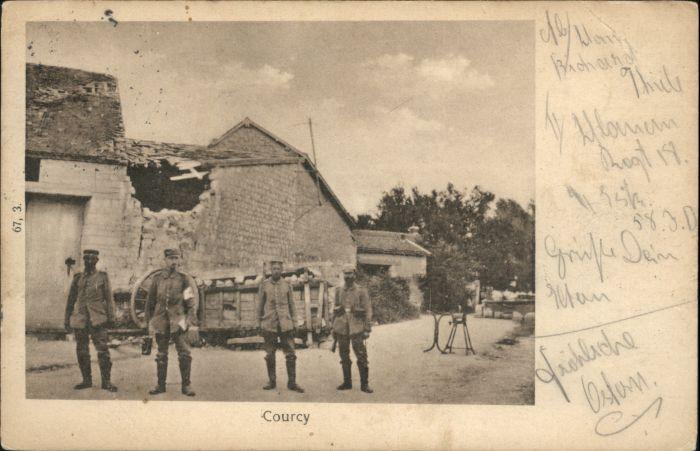 Courcy Marne Soldaten Zerstoerung x / Courcy /Arrond. de Reims