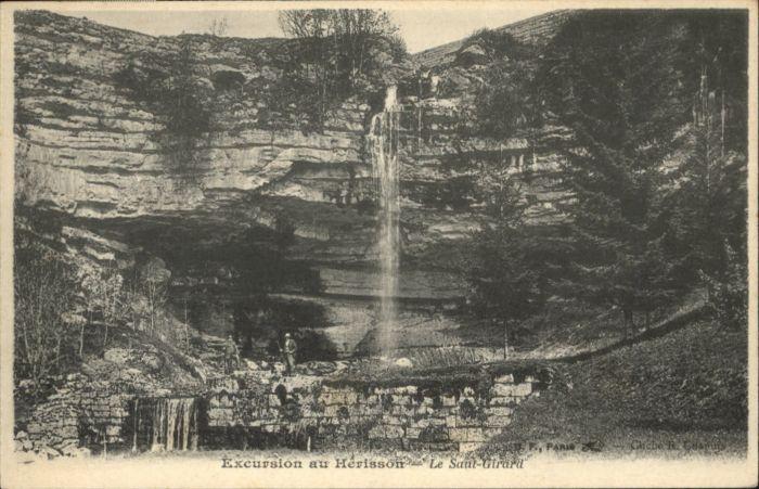Herisson Jura Herisson Saut-Girard Wasserfall * / La Chaux-du-Dombief /Arrond. de Saint-Claude