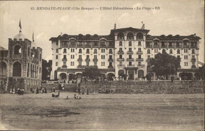 Hendaye Pyrenees Atlantiques L'Hotel Eskualduna  * / Hendaye /Arrond. de Bayonne