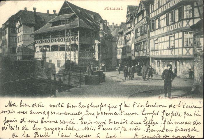 Buchsweiler [Stempelabschlag] Pflanzbad x