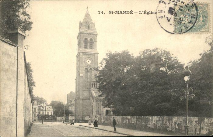 Saint-Mande Val-de-Marne Eglise x / Saint-Mande /Arrond. de Nogent-sur-Marne