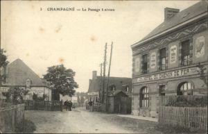Champagne Sarthe Passage a Niveau * / Champagne /Arrond. de Mamers
