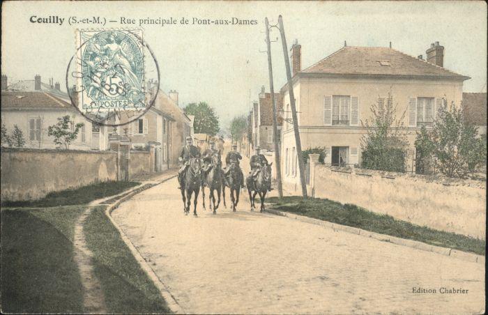 Couilly-Pont-aux-Dames Principale Pont-aux-Dames Soldat Pferd x / Couilly-Pont-aux-Dames /Arrond. de Meaux