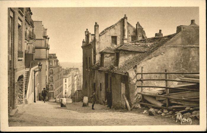 Montmartre Paris Montmartre la rue du Mont-Cenis la Maison de Mimi Pinson * / Paris /Arrond. de Paris