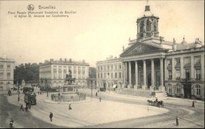 Bruessel Bruxelles Place Royale Monument Godefroid de Bouillon Eglise Saint Jacques sur Coudenberg * /  /