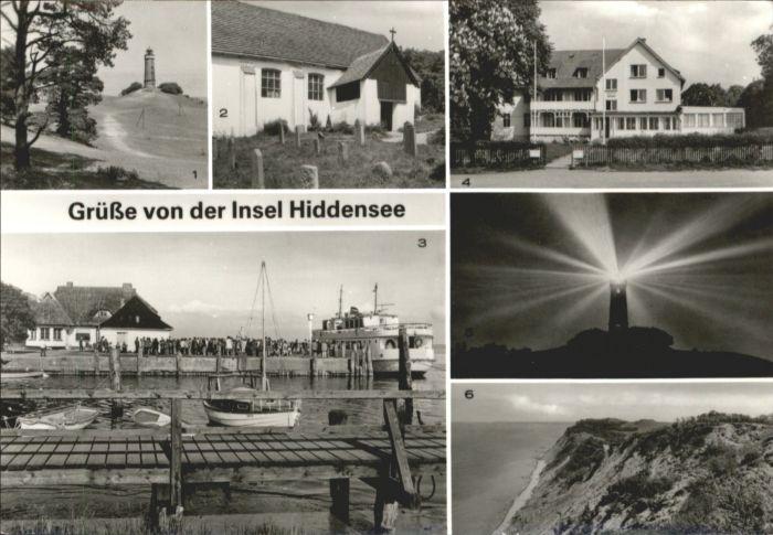 Insel Hiddensee Leuchtturm Seemanns Kirche Kloster Hafen Erholungsheim Hitthim / Insel Hiddensee /Ruegen LKR