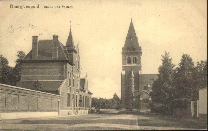Bourg-Leopold Kirche Postamt x
