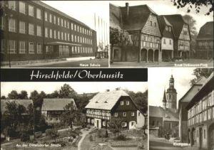 Hirschfelde Sachsen Schule Ernst-Thaelmann-Platz Kirchgasse x / Hirschfelde Zittau /Goerlitz LKR