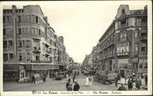 La Panne De Panne Avenue Mer Zeelaan x