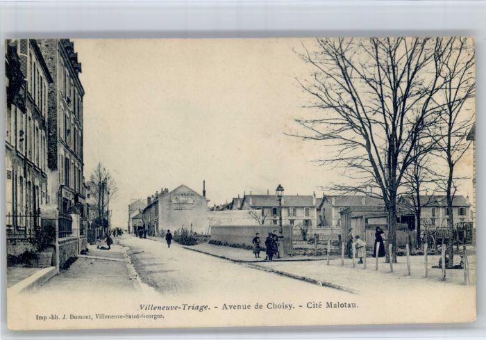Villeneuve-Saint-Georges Villeneuve-Triage Avenue Choisy  x / Villeneuve-Saint-Georges /Arrond. de Creteil