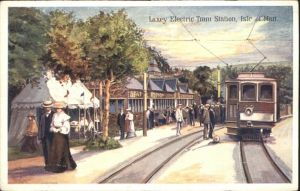 Laxey Electric Tram Station Isle of Man  *