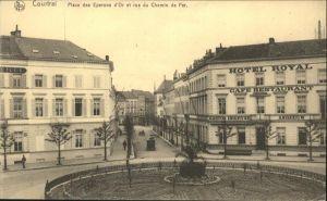 Courtrai Place des Eperons d'Or Rue du Chemin de Fer *