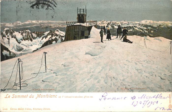 Montblanc Sommet Observatoire x