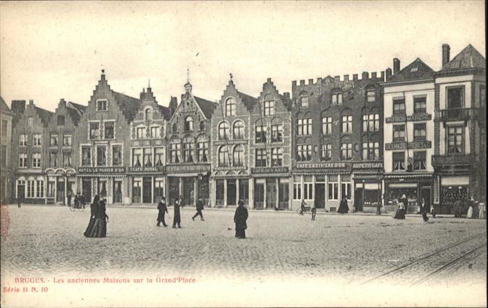 wb13802 Bruges Flandre Bruges Maison Grand Place * Kategorie.  Alte Ansichtskarten