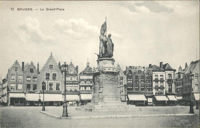 wb13710 Bruges Flandre Bruges Grand Place * Kategorie.  Alte Ansichtskarten