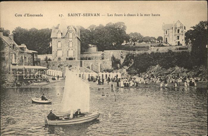Saint-Malo Ille-et-Vilaine Bretagne les fours a chaux e la mer haute / Saint-Malo /Arrond. de Saint-Malo