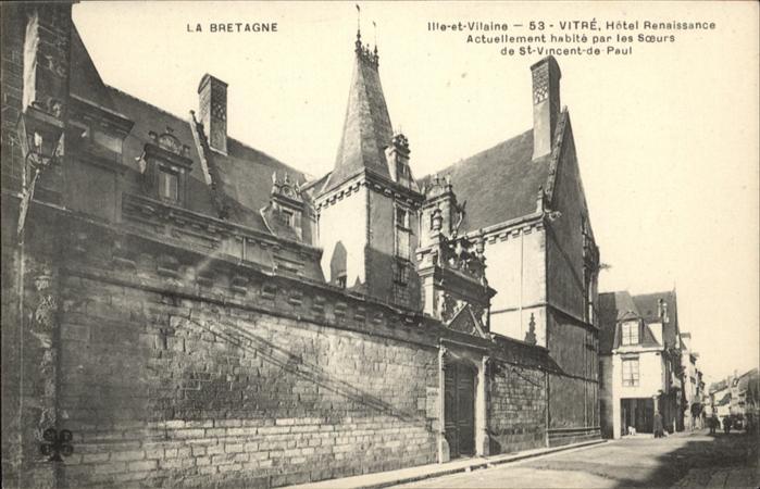 Vitre d Ille-et-Vilaine Ille-et-Vilaine Hotel Renaissance La Bretagne / Vitre /Arrond. de Rennes