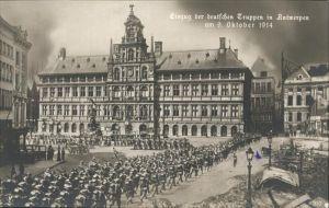 Antwerpen Anvers Einzug der Deutschen Truppen  /  /