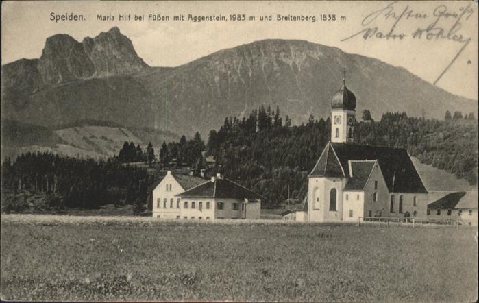 Speiden Eisenberg Allgaeu Maria Hilf Kirche / Eisenberg /Ostallgaeu LKR