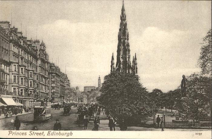 Edinburgh Princess Street / Edinburgh /Edinburgh