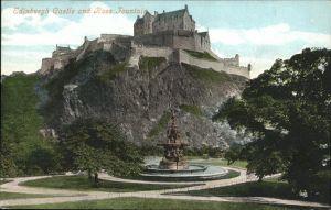 Edinburgh Edinburgh Castle Ross Fountain / Edinburgh /Edinburgh