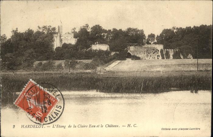 Neufchatel-Hardelot Etang de la Claire Eau  Chateau / Neufchatel-Hardelot /Arrond. de Boulogne-sur-Mer