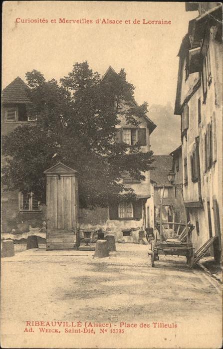Ribeauville Haut Rhin Elsass Place des Tilleuls / Ribeauville /Arrond. de Ribeauville