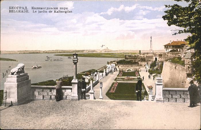 Belgrad Serbien Kalimegdan Schiff / Serbien /
