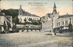 Bad Leutenberg Marktplatz Rathaus Brunnen / Leutenberg /Saalfeld-Rudolstadt LKR