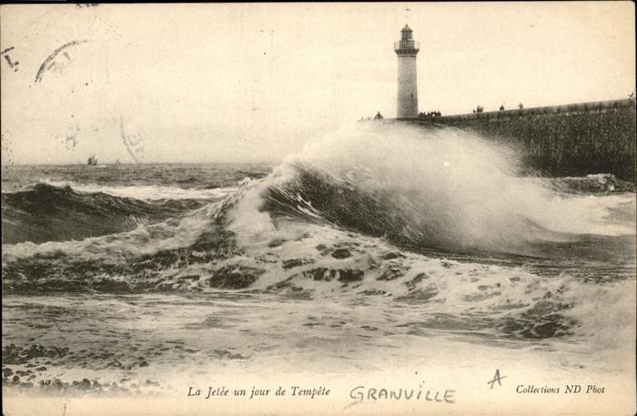 Granville Manche  la Jetee  / Granville /Arrond. d Avranches