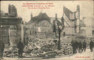 Raon-l Etape Vosges Coin de la Place Jules Ferry bombardee 1914 / Raon-l Etape /Arrond. de Saint-Die