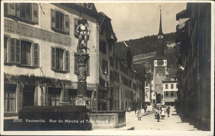 Neuveville La Rue du Marche Tour Rouge / Preles /Bz. La Neuveville