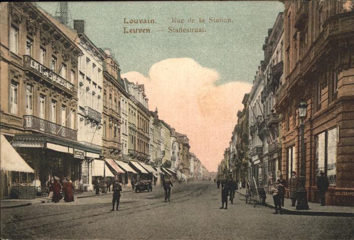 Louvain Rue de la Station