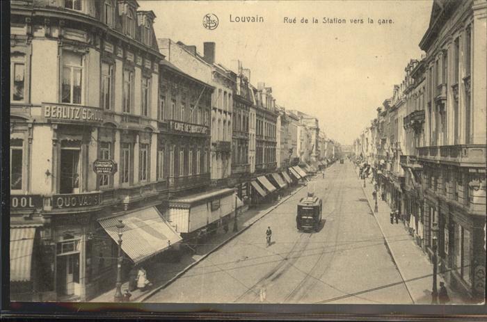 Louvain Rue de la Station vers la gare