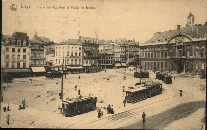 aw01059 Liege Luettich Saint-Lambert Palais de Justice, Strassenbahn Kategorie. Luettich Alte Ansichtskarten