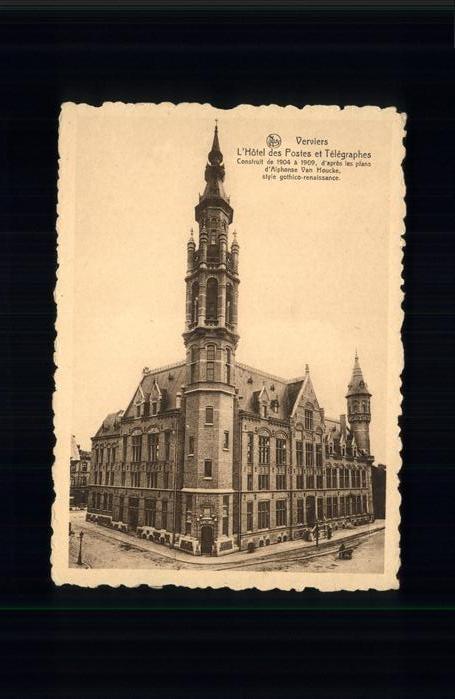 Verviers Liege Wallonie Hotel Postes et Telegraphes /  /