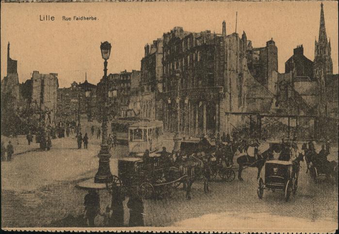 Lille Antwerpen Rue Faidherbe Strassenbahn Kat.