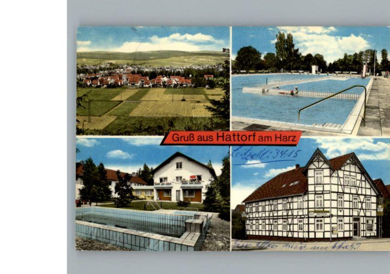 Hattorf Harz Schwimmbad Gaststaette Trueter / Hattorf am Harz /Osterode Harz LKR