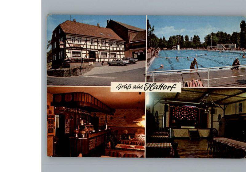Hattorf Harz Schwimmbad, Penion Bergklause / Hattorf am Harz /Osterode Harz LKR