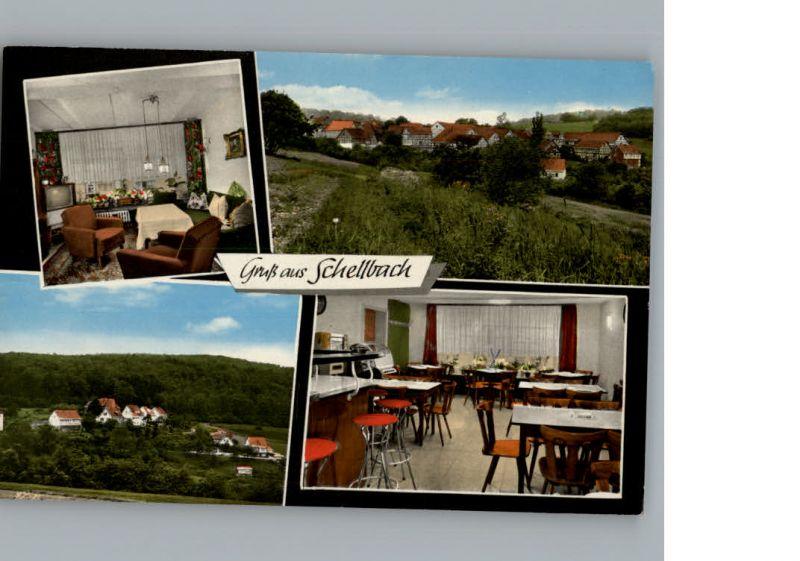 Schellbach Knuellwald Cafe-Pensionshaus Mueller  / Knuellwald /Schwalm-Eder-Kreis LKR