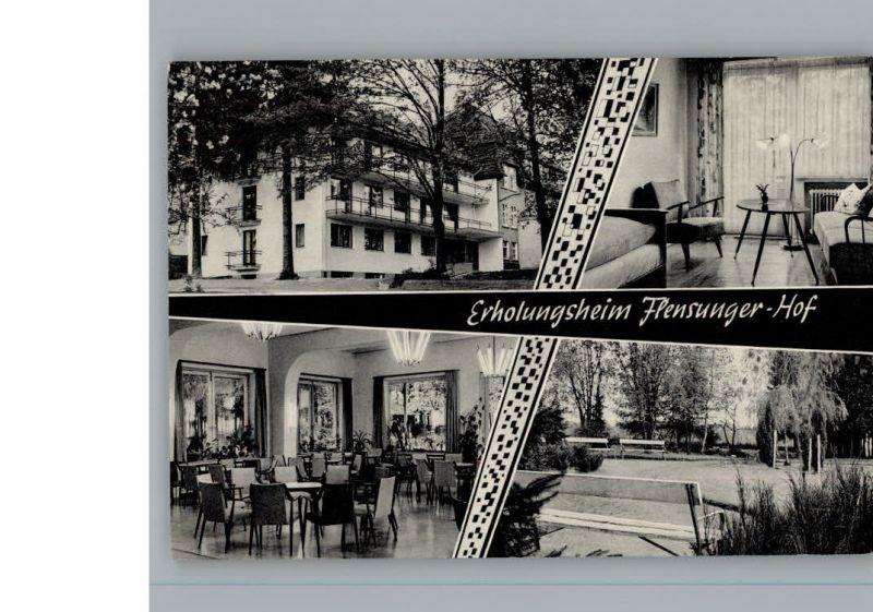 ak flensungen erholungsheim flensunger hof nr 6373778 oldthing ansichtskarten deutschland. Black Bedroom Furniture Sets. Home Design Ideas