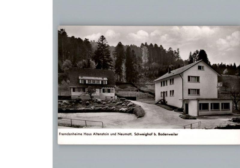 ak schweighof b badenweiler strassenpartie mit fremdenheime haus altenstein und neumatt nr. Black Bedroom Furniture Sets. Home Design Ideas